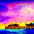 Santa Monica Pier A Night by Irving Starr