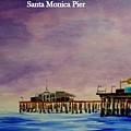 Santa Monica Pier At Night by Irving Starr