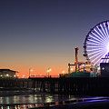 Santa Monica Pier At Sunset by Frank Freni