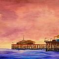 Santa Monica Pier by Irving Starr