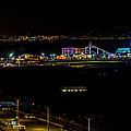 Santa Monica Pier Light Show - Panorama by Gene Parks