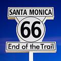 Santa Monica Route 66 Sign by Paul Velgos