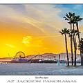 Santa Monica Sunset Poster Print by Az Jackson