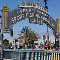 Santa Monica Yacht Harbor At Santa Monica Pier In Santa Monica California Dsc3669sq by Wingsdomain Art and Photography