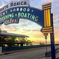 Santa Monica Yacht Harbor Sign by Art Block Collections