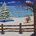 Santa On Skis by Jeffrey Koss