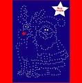 Santa Rudolph Stars Blue 2 by Eddie Barron