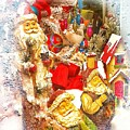 Santa Scene 1 by Rachel Hannah