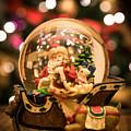 Santa Snow Globe by AMB Fine Art Photography