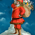 Santa Standing On The Globe by American School