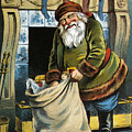 Santa Unpacks His Bag Of Toys On Christmas Eve by William Roger Snow