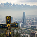 Santiago Chile Panoramic by Kenneth Lempert