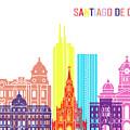 Santiago De Cali Skyline Pop by Pablo Romero