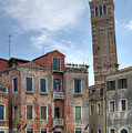 Santo Stefano Venice Leaning Tower by Alan Toepfer