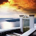 Santorini - The Gate by Manolis Tsantakis