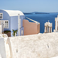 Santorini Blue House In Oia by Antony McAulay