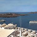 Santorini Caldera by S Paul Sahm