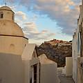 Santorini Dome Church by Thiras art
