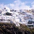Santorini Hillside 2 by Karen Norton