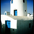 Santorini Silo With Border by Sonal Dave