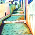 Santorini Steps by Gail Zavala
