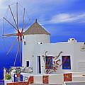 Santorini Windmills by Rich Walter