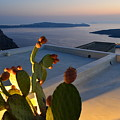 Santorini.fira Sunset by Thiras art
