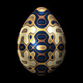 Sapphire And Gold Imperial Easter Egg by Hakon Soreide