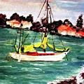 Sarasota Bay Sailboat by Angela Murray