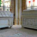 Sarcophagi At Dante's Tomb by Deborah Smolinske
