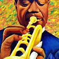 Satchmo, Louis Armstrong Painting by Jevie Stegner