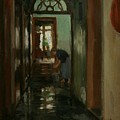 Saturday  An Interior View Of Garstin's Home  by Norman Garstin