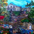 Saturday At Alamo Plaza by Patti Schermerhorn