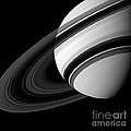 Saturn And Tethys by Science Source