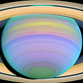 Saturn's Rings In Ultraviolet Light by Artistic Panda