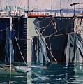 Sausalito Docks by Andrew Drozdowicz