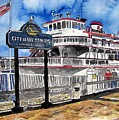 Savannah River Queen Boat Georgia by Derek Mccrea