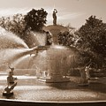 Savannah Sepia - Forsyth Fountain by Carol Groenen