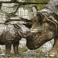 Save The Rhinos by Susan Maxwell Schmidt