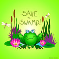 Save The Swamp Twitchy The Frog by M Sylvia Chaume