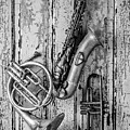 Sax French Horn And Trumpet by Garry Gay