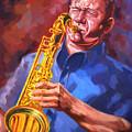 Sax Player  by Ahmed Bayomi