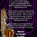 Saxophone Photographs Or Pictures For T-shirts Why Music 4819.02 by M K  Miller