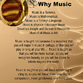 Saxophone Photograph Why Music For T-shirts Posters 4827.02 by M K  Miller