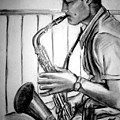 Saxophone Player by Laura Rispoli