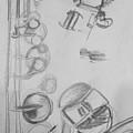 Saxophone Still Life Study by Jamey Balester