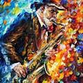 Saxophonist by Leonid Afremov
