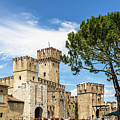Scaligero Castle At The Entrence Of The Sirmione Medieval Town  by Didier Marti