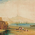 Scarborough Town And Castle by Joseph Mallord William Turner