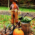 Scarecrow And Pumpkin by Susan Savad
